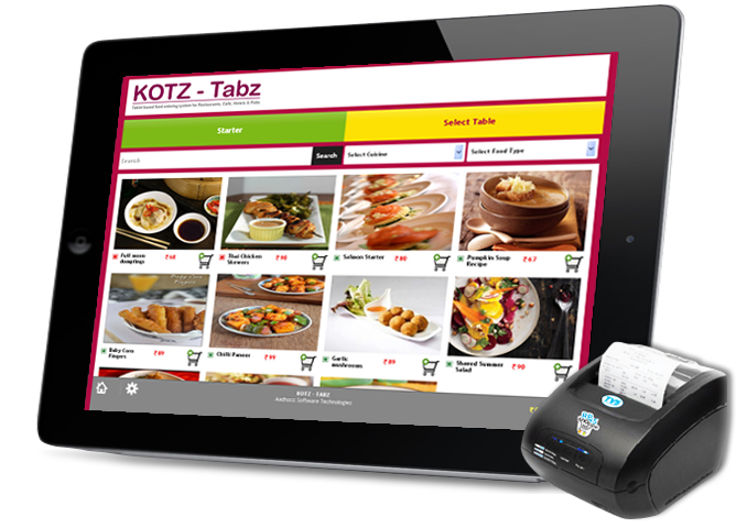 Tablet Based Food Ordering System For Restaurants Cafe Hotels - Restaurant table ordering system