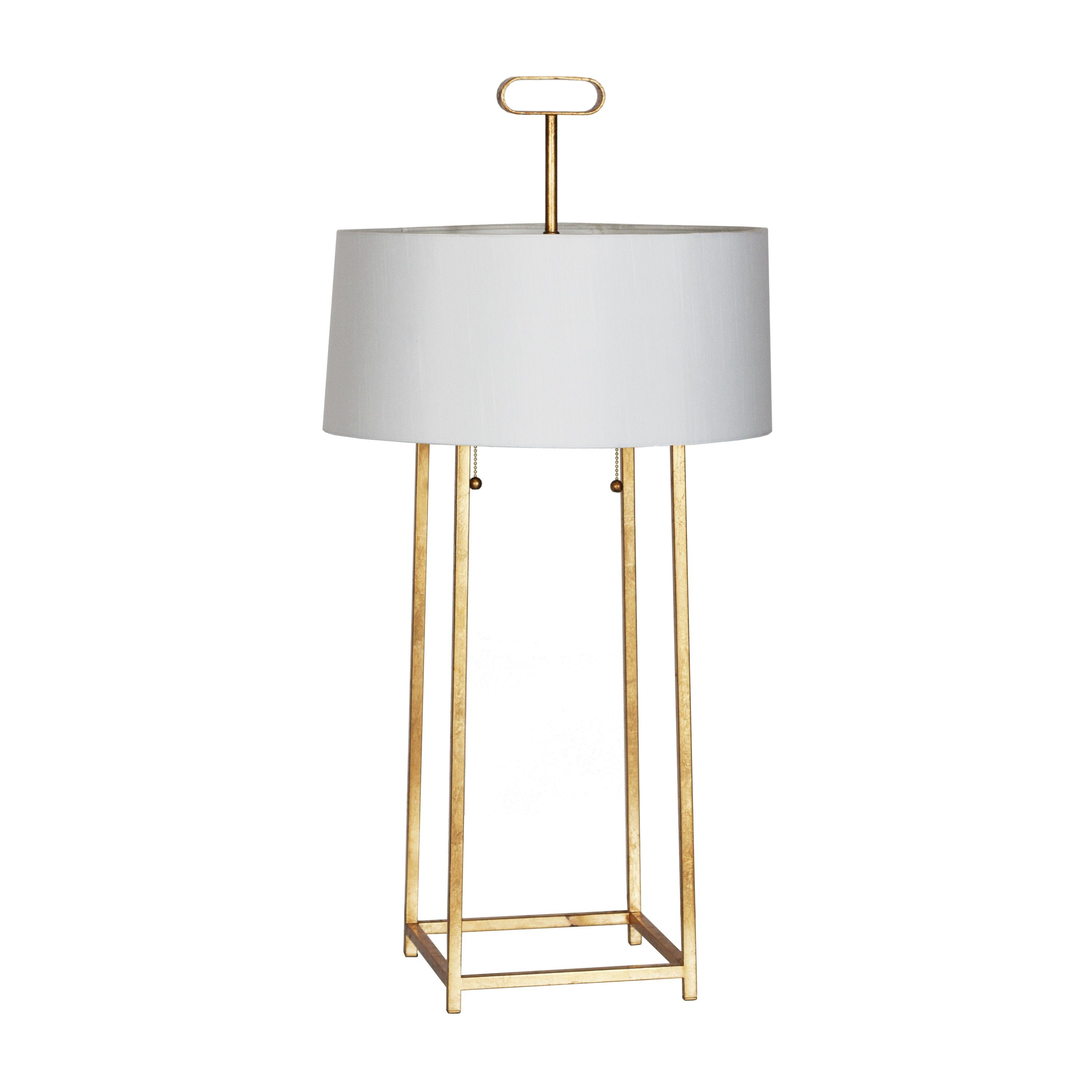 Mondo G Gold Leaf Iron Lamp With Pull Chain 16 5