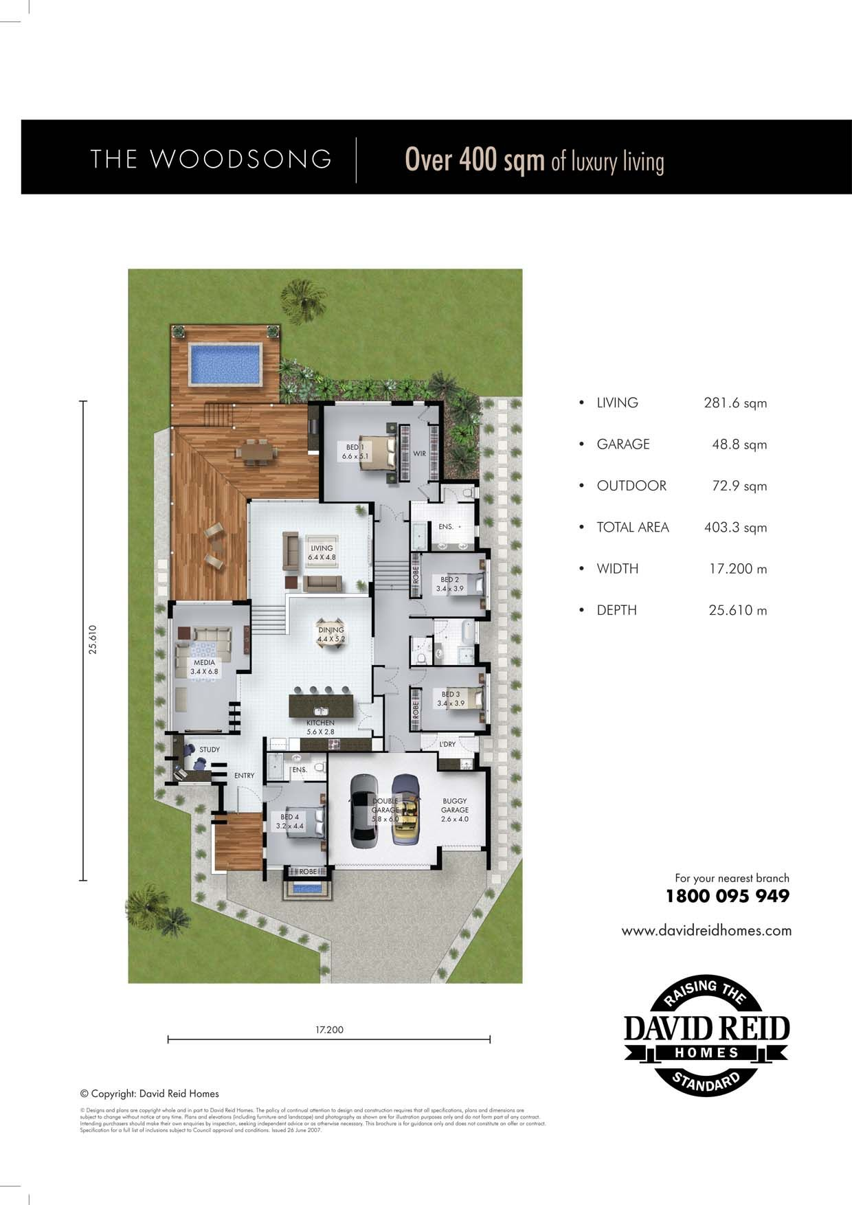 The Woodsong Floor Plan Concept Range David Reid Homes Australia Luxury Custom Home Builder