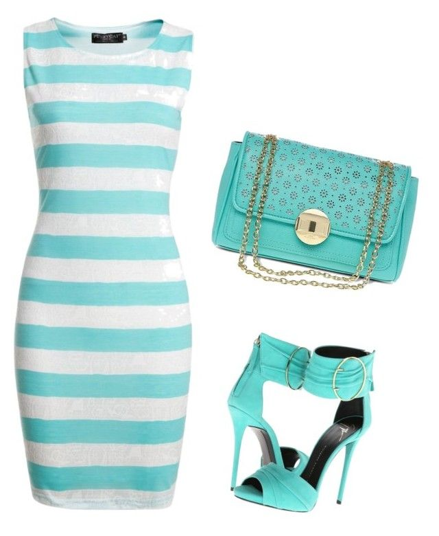 """""""Untitled #3702"""" by ania18018970 on Polyvore featuring Giuseppe Zanotti, Pussycat and Lulu Guinness"""