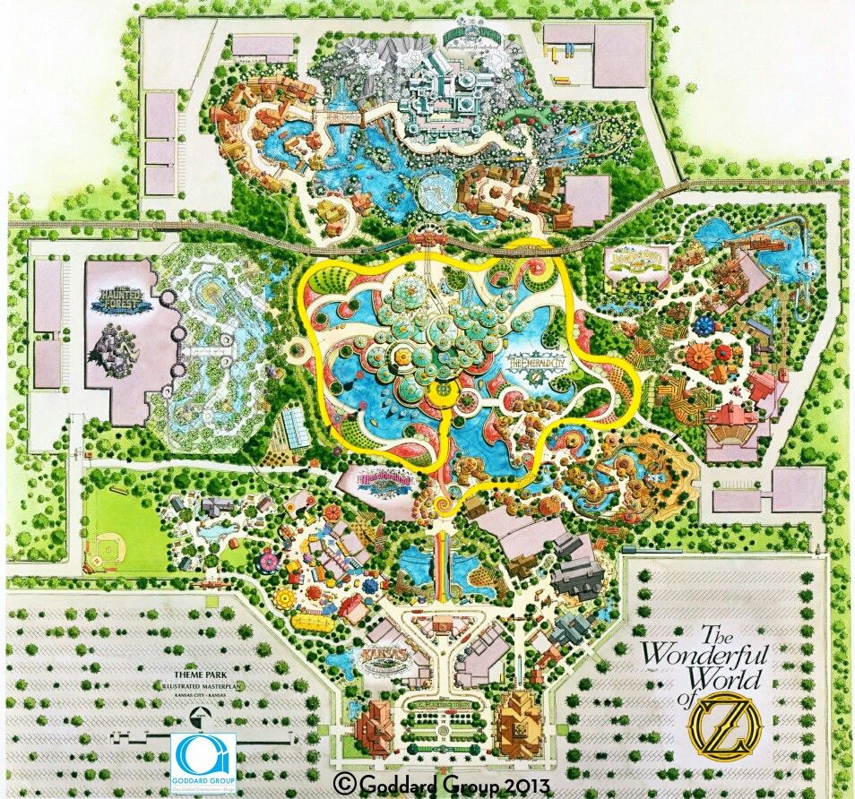 Wizard Of Oz Theme Park Map (all Rights Reserved To The