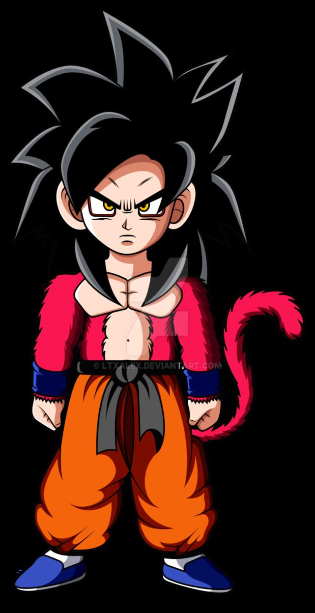 024 Kid Son Goku Ssj4 By Ltxalex Goku Chibi Son Goku