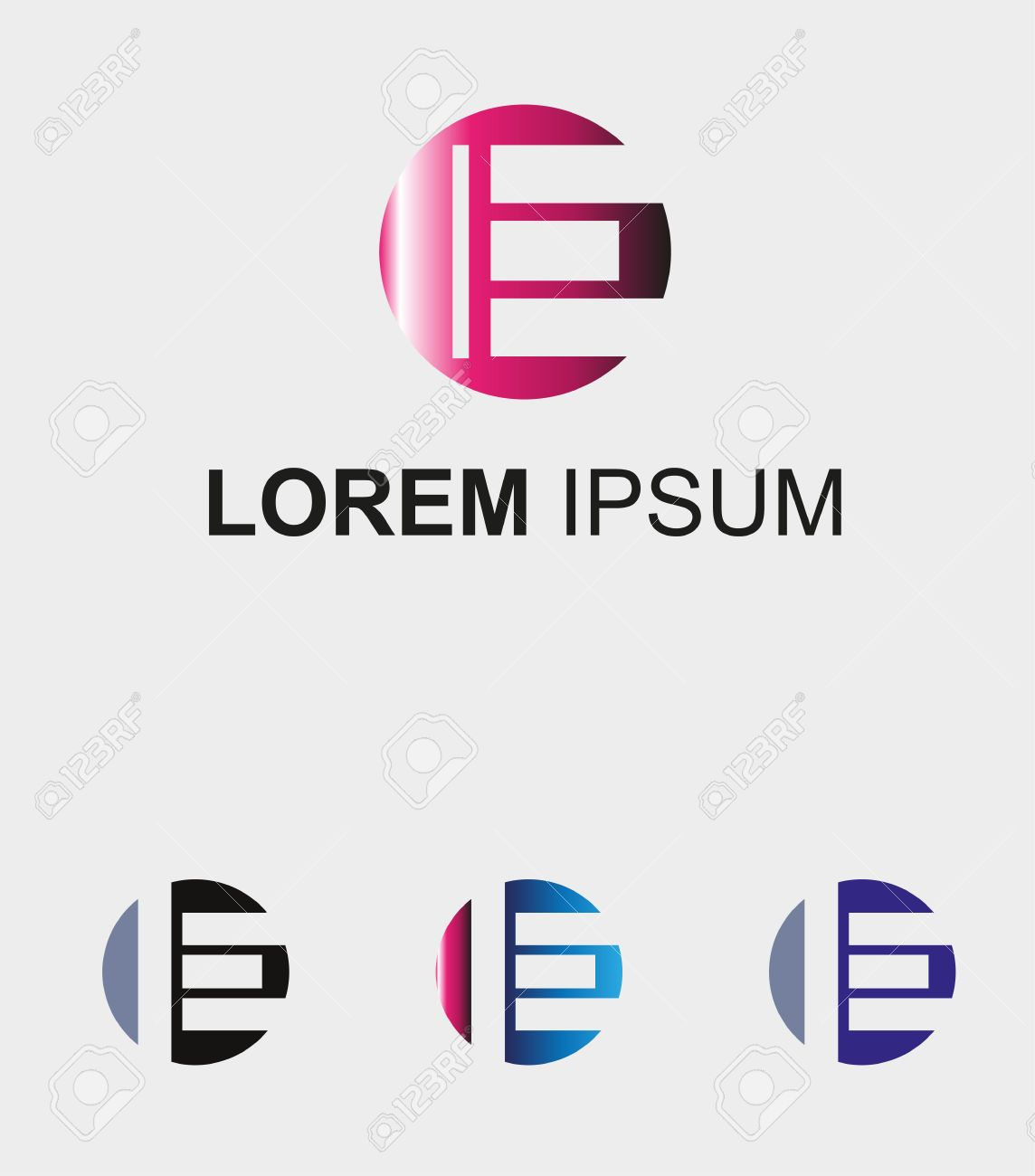 circle icon with letter e logo royalty free cliparts, vectors, and