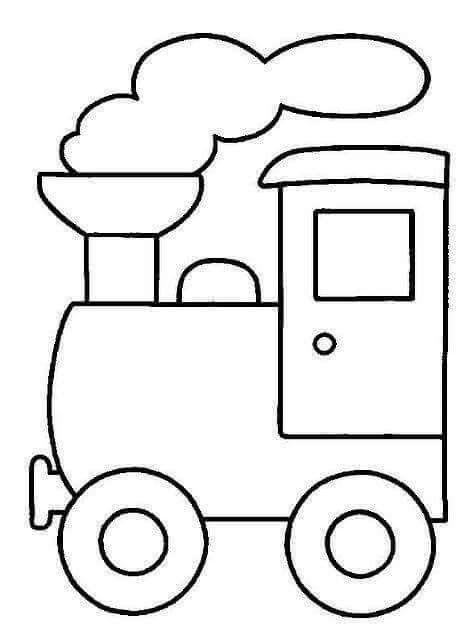 Desenho De Trem De Mb Art Em Moldes Pintura Para Criancas