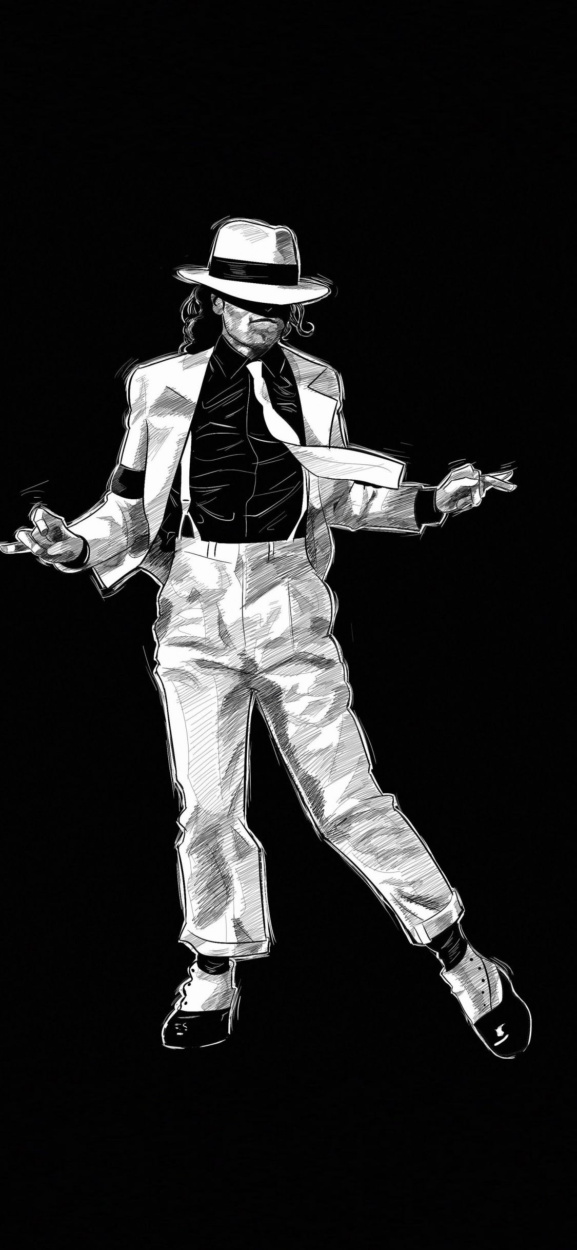Art, dark, Michael Jackson, 1125x2436 wallpaper Michael