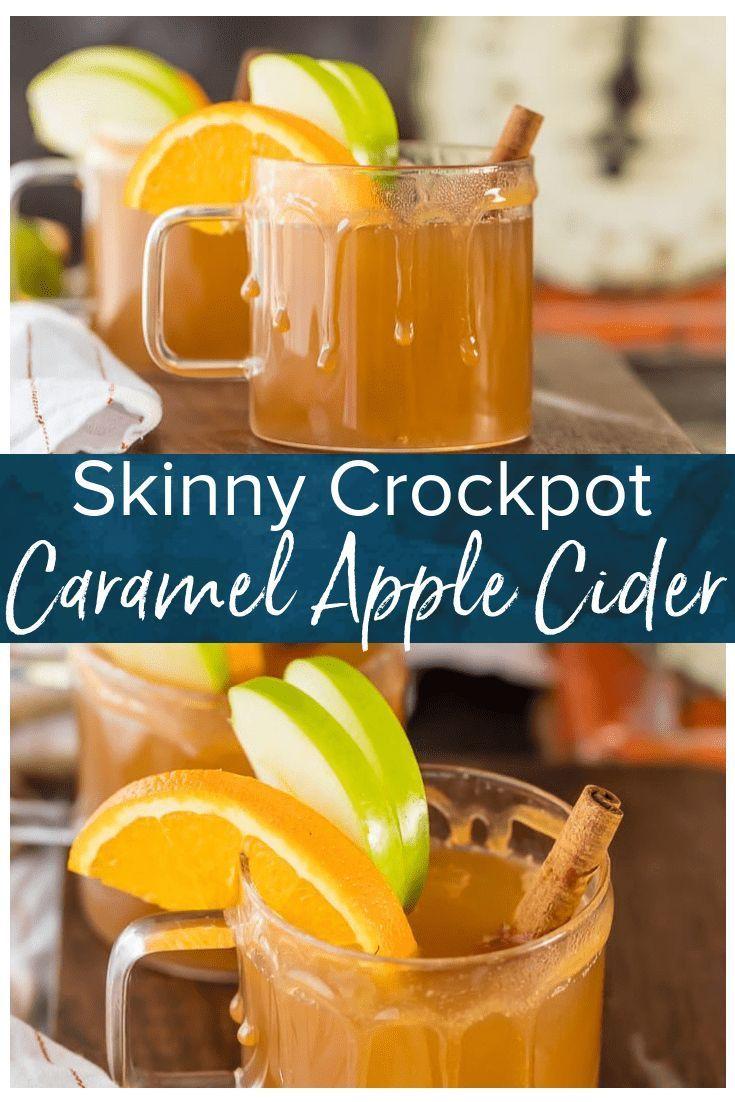 Skinny Crockpot Apple Cider (Caramel Apple Cider)