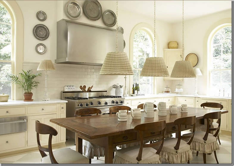 Pretty Kitchen With Dining Table And Chairs Which Can