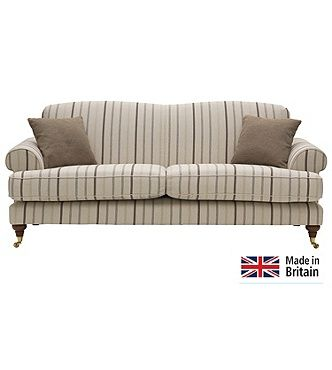 Heart Of House Sherbourne Large Striped Sofa Natural
