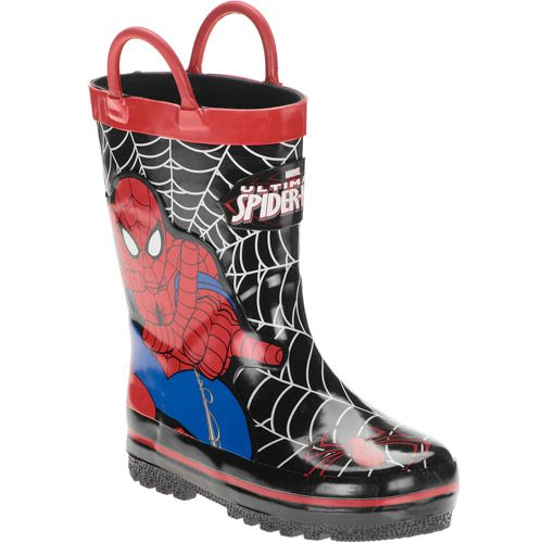 Marvel Toddler Boys' Spiderman Rain Boots: Baby Clothing