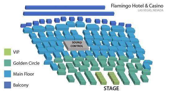 Flamingo Donny  Marie Showroom - Legends In Concert Seating Chart