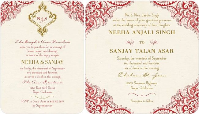 Indian Wedding Invitation Wording For Friends Card: Creating The Perfect Indian Wedding Invitations Without