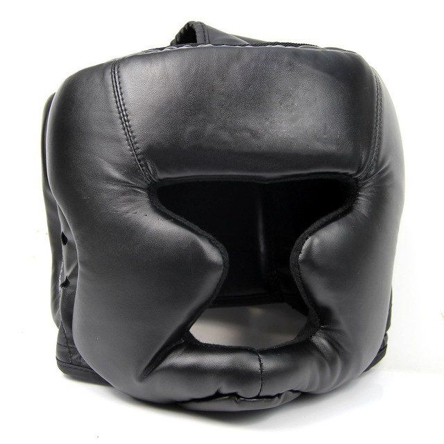 Diret Black Good Headgear Head Guard Training Helmet Kick Boxing Protection Gear