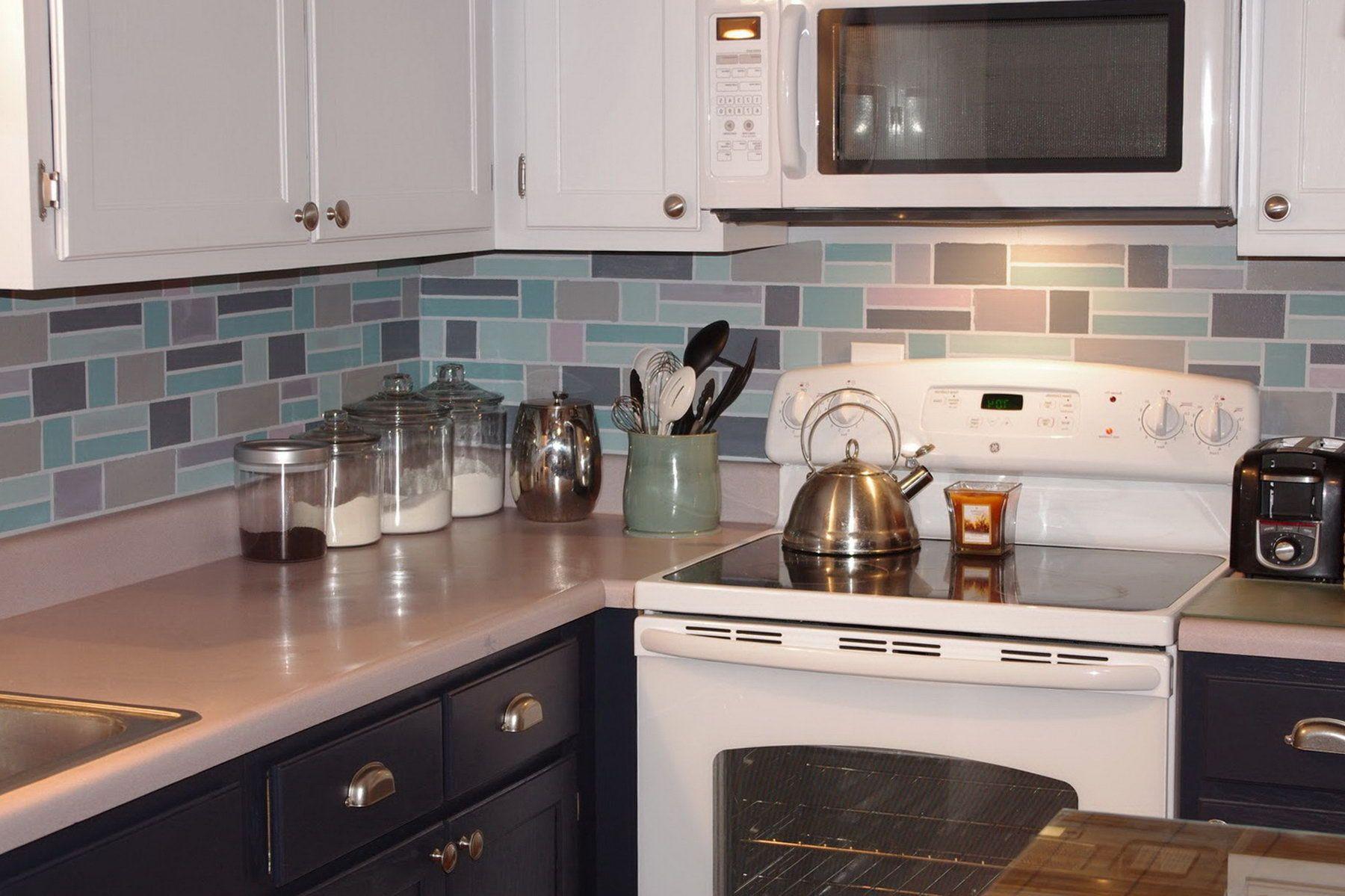 Schockierend Farbe Küche Fliesen Backsplash | Küchen ...