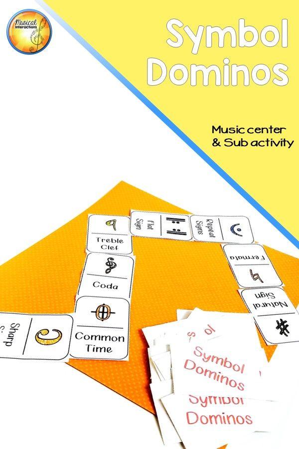 Symbol Dominos Music Center And Sub Activity Music Pinterest