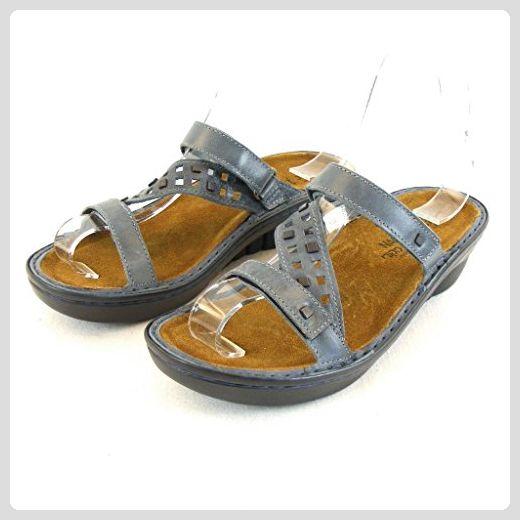 Naot Damen Schuhe Pantoletten Agile Leder blaugrau 14175