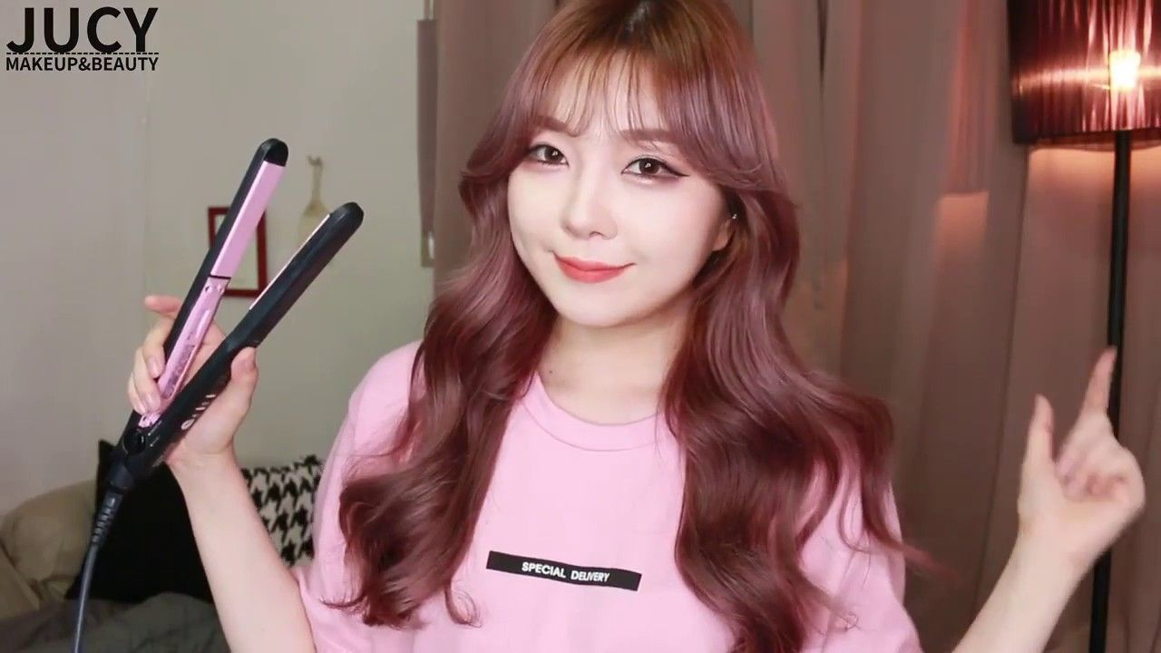 Korean Wavy Hairstyles Medium Curled Hairstyles Curling Hair With Flat Iron Korean Wavy Hair