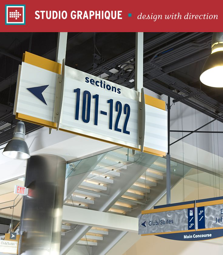 Lucas County Arena – Studio Graphique (Patners: The Gateway Group, HNTB) // Wayfinding   Venues