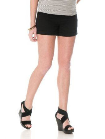 53b2c62bed4b9 Amazon.com: A Pea in the Pod: Secret Fit Belly(r) 5 Pocket Maternity Shorts:  Clothing