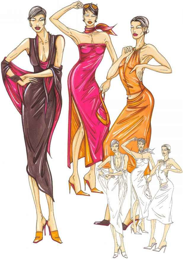 Types Fashion Figure Illustration Figure Drawing Fashion Design Fashion Figures