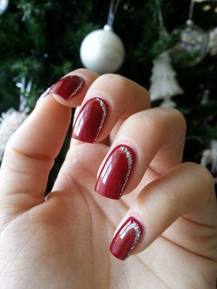 Decorazioni Natalizie Unghie.Rosso Natale Gel Smalto Nails Ricostruzioneunghie Decorazioni