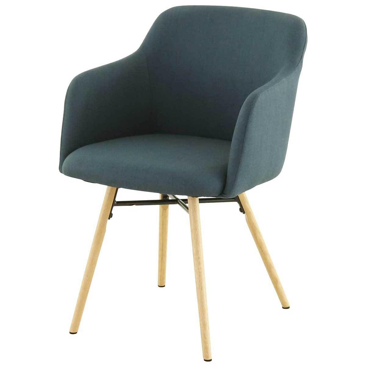 Chaise May avec Accoudoirs - Bleu Canard | Accoudoir, Bleu canard ...