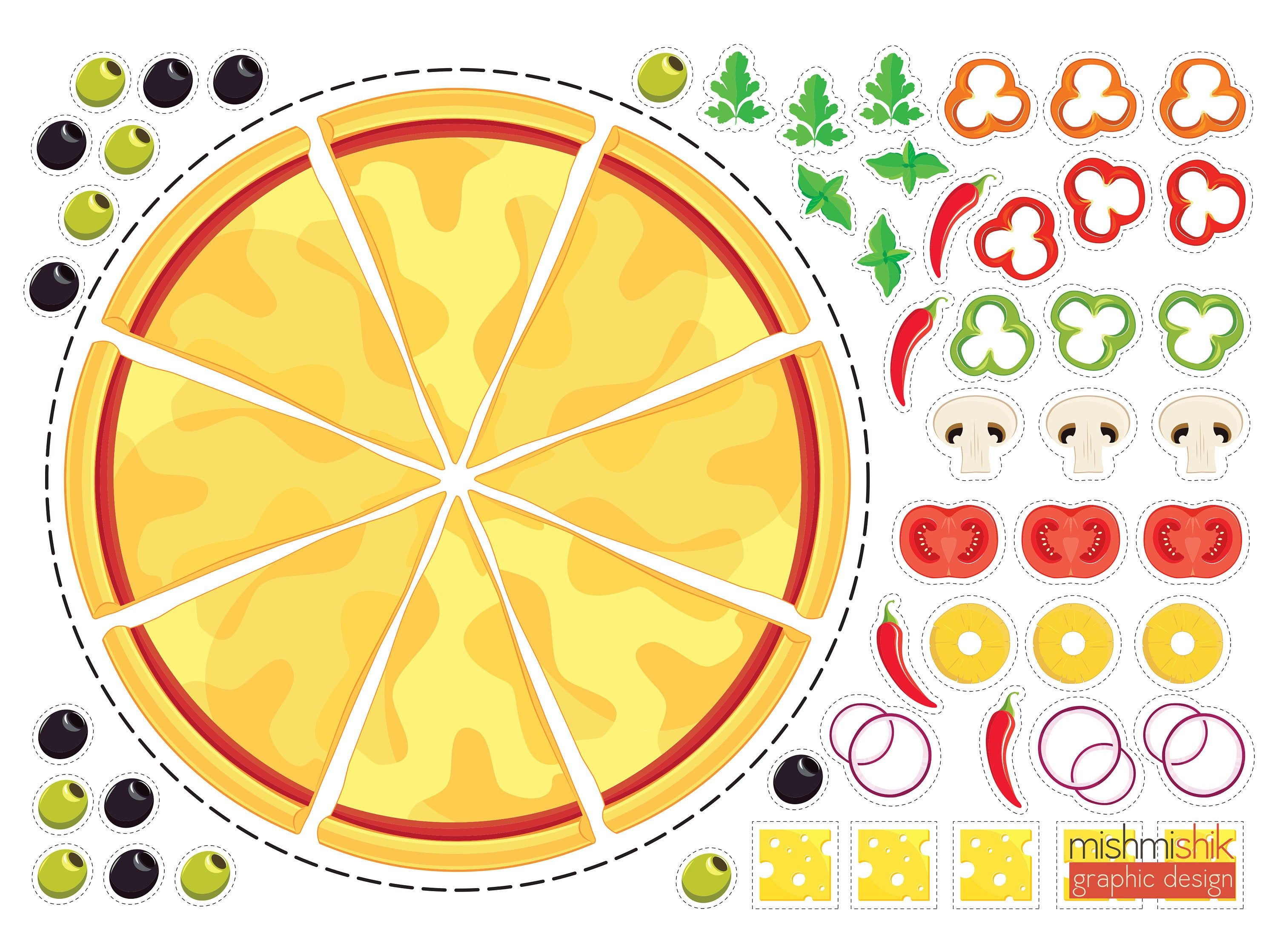 Printable Diy Craft Pizza For Kids In With Images