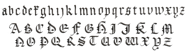 Image Result For Simple Gothic Calligraphy Alphabet