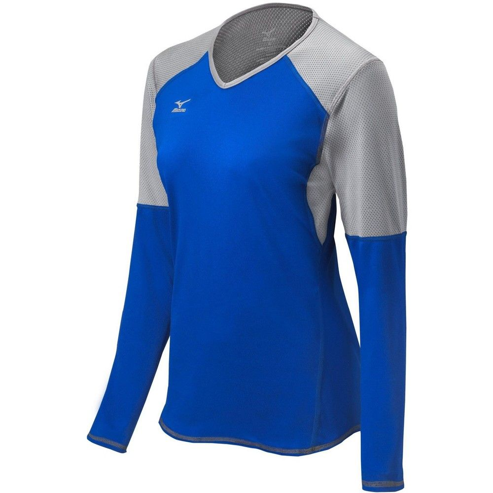 Mizuno Women S Techno Vi Long Sleeve Jersey Womens Size Extra Extra Large In Color Royal Silver 5273 Long Sleeve Jersey Fashion Womens Fashion Casual