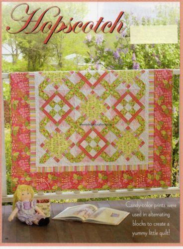 Hopscotch Quilt Pattern Pieced Mc Square Quilts Pinterest