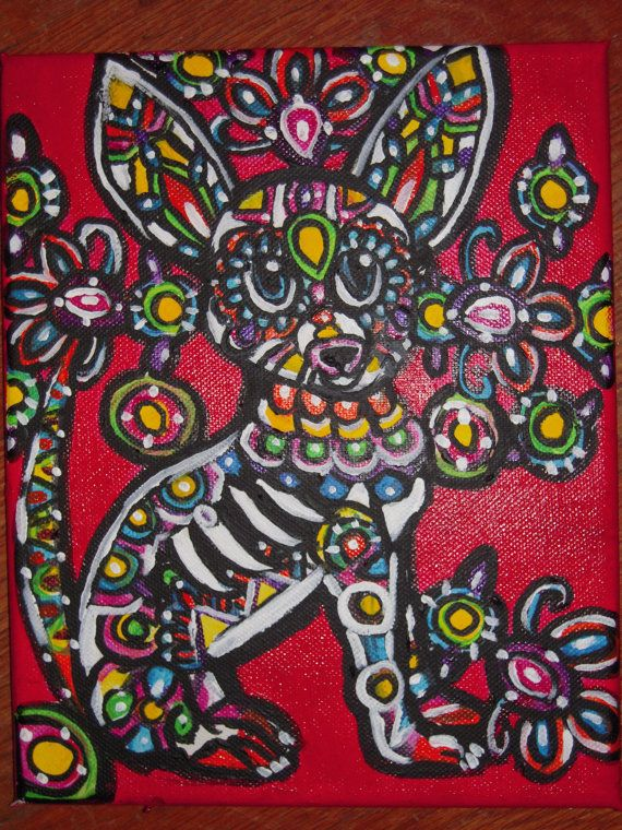 Custom Day of the Dead/ Folk Art/ Pet by AntonisArtAsylum on Etsy, $75.00