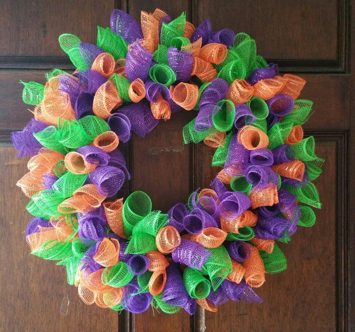 Deco Mesh Wreath Made By Me From Dollar Tree Items Diy