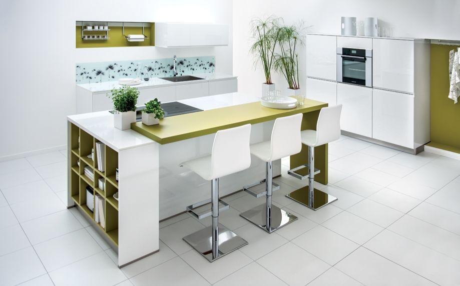 R sultat de recherche d 39 images pour cuisine en longueur - Plan de travail cuisine grande longueur ...