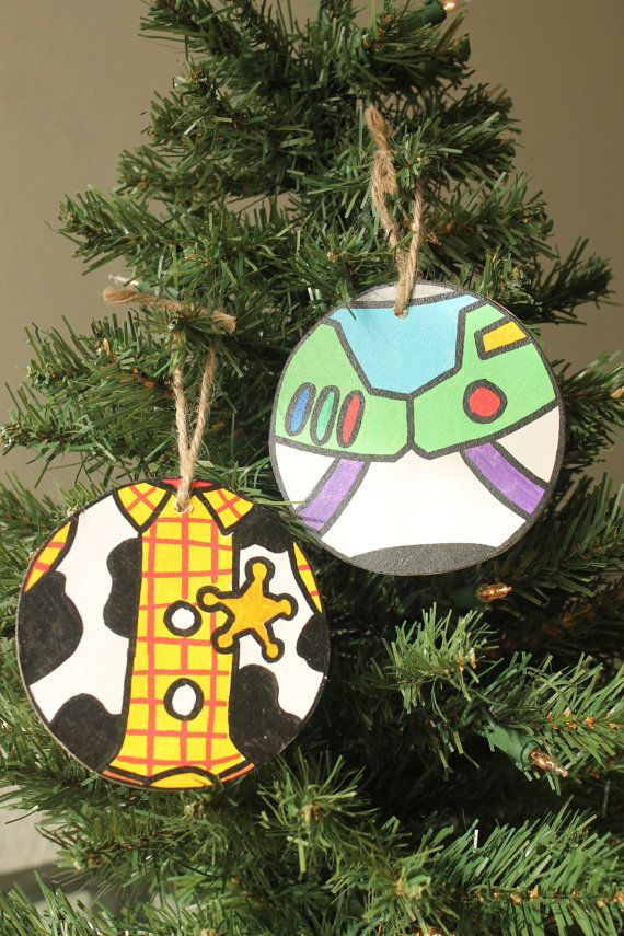 Toy Story Christmas Ornaments.Handmade Toy Story Themed Christmas Ornaments By Paintandply