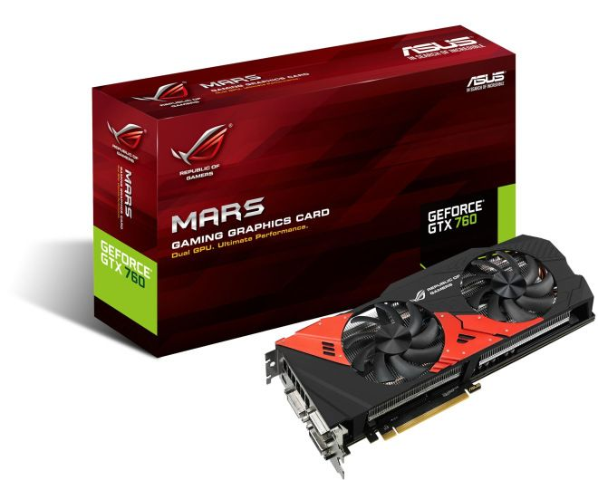 Asus Rog Mars 760 Dual Gtx 760 With 6gb Of Memory Graphic Card Asus Nvidia