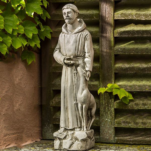 Small st francis with animals garden statue lro112 religious small st francis with animals garden statue lro112 workwithnaturefo