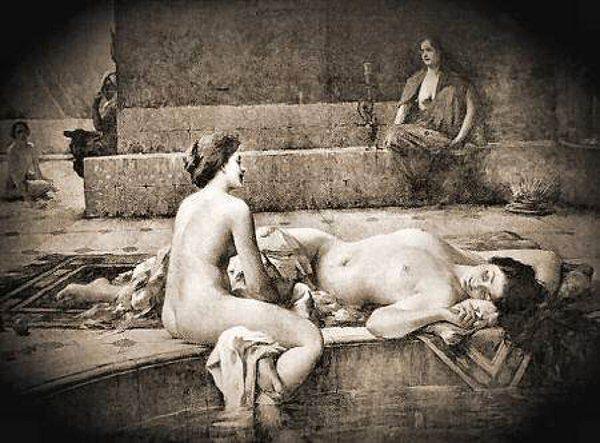 Photographie érotique beaux arts enceinte femme ancienne