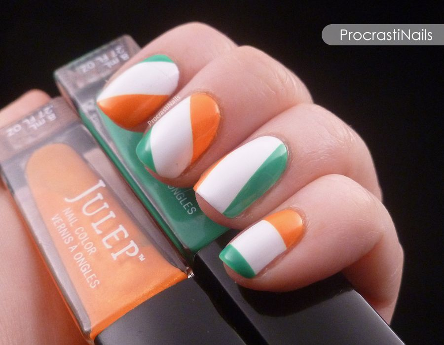 ProcrastiNails: Get Lucky Nail Art Challenge: Irish Flag or Irish ...