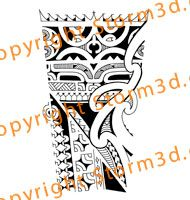 Inner forearm tattoo in Marquesan and Maori inspired style ...