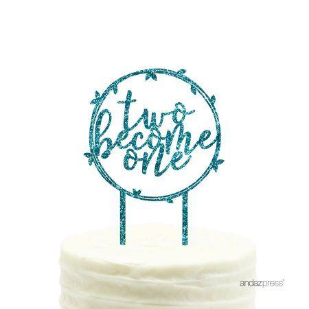 Acrylic Birthday Cake Topper One Blue Glitter