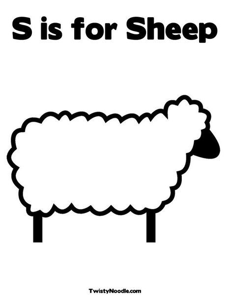 Sheep Coloring Page: Customize it! | S ... is for Alphabet ...