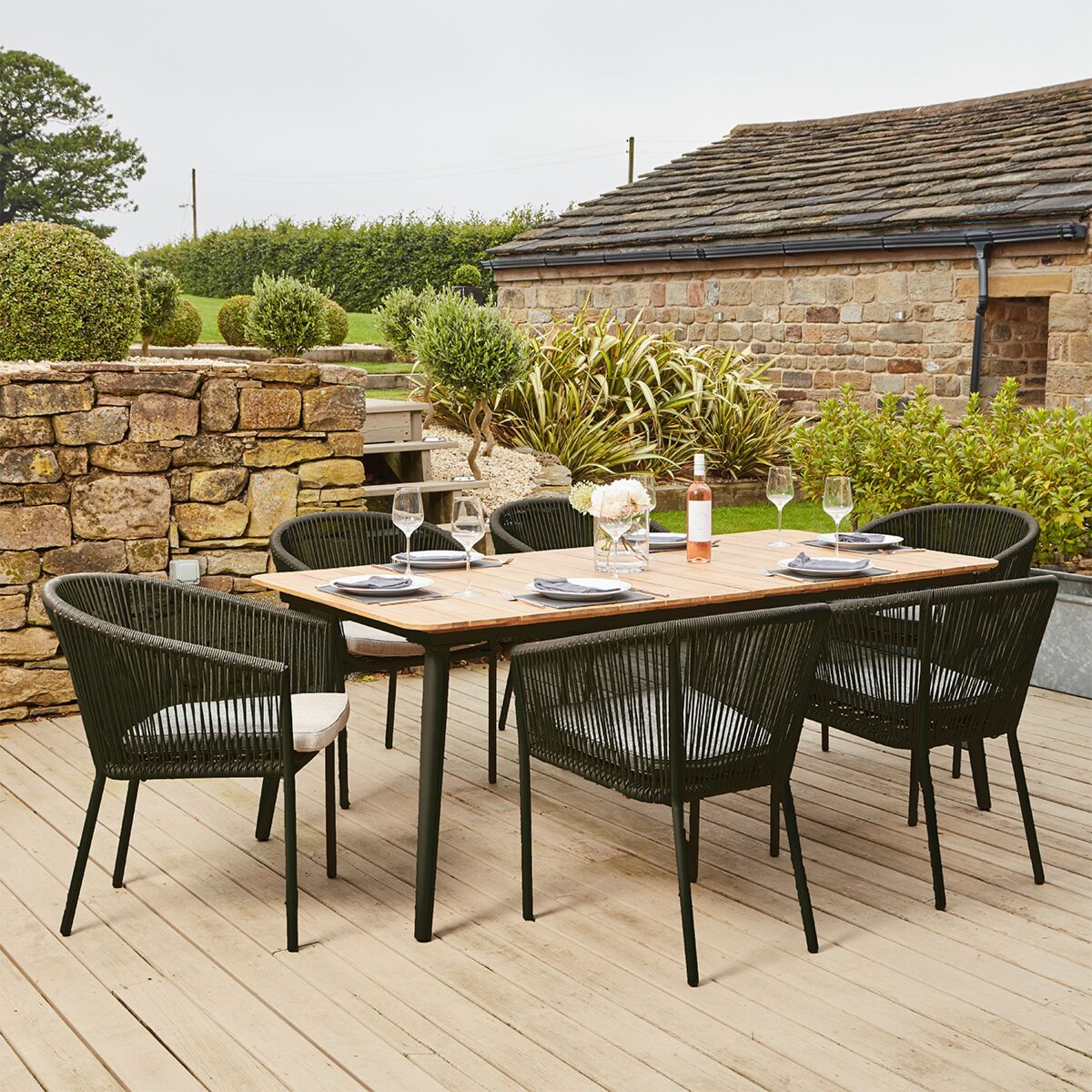 Https Www Robertdyas Co Uk Media Catalog Product Cache C6273ae4c3df0939b2b6eed74e8f56b3 2 3 In 2020 Modern Outdoor Dining Area Garden Dining Set Outdoor Dining Area