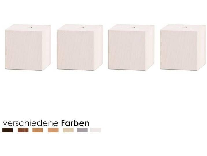 Hasena Moderno Füsse Ivio 4er-Set / 25 cm / Eiche sägerauh coffee