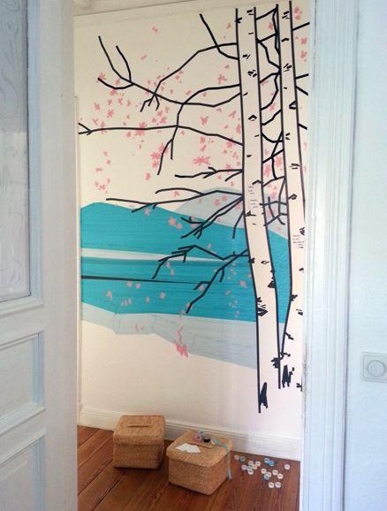 wandgestaltung bild aus masking tape pinterest wandgestaltung dekorieren und raumgestaltung. Black Bedroom Furniture Sets. Home Design Ideas