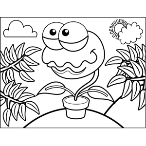 Venus Fly Trap Printable Coloring Page Free To Download And Print The Anthropomorphic Venus Fly Trap Has Venus Fly Trap Coloring Pages Fine Art Painting Oil