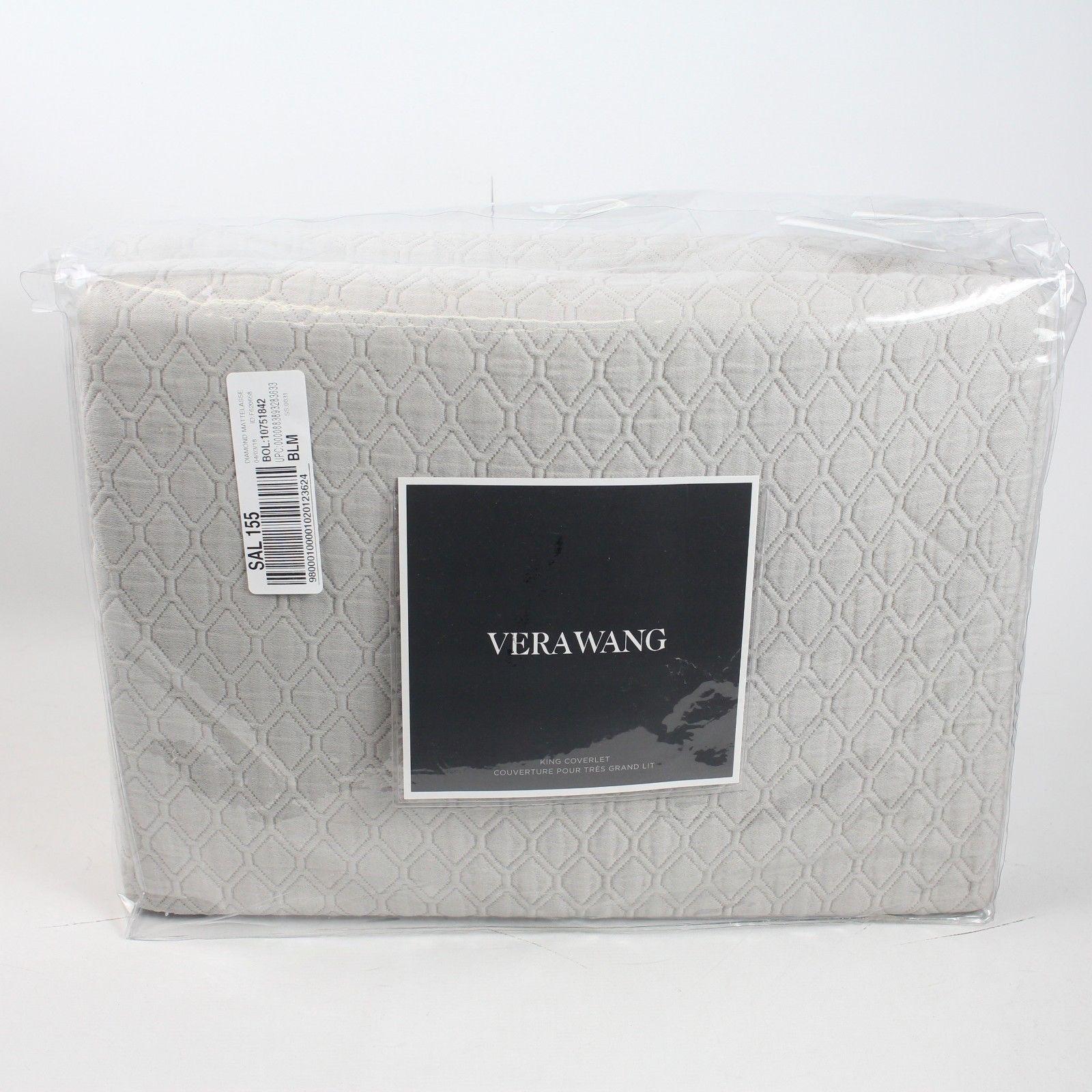 Vera Wang Bedding Puckered Diamond Matelasse King Coverlet
