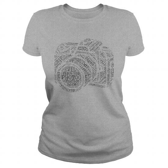 Camera With Strap Shirt Photographer Photography Photographs