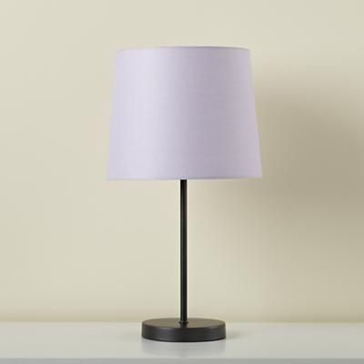 Kids' Lighting: Kids Table Lamp Base with Fabric Shade in Table Lamps