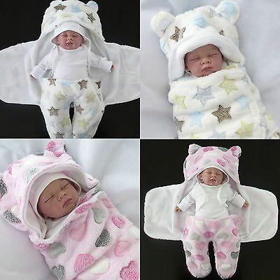Photo of First Steps ★ Einschlagdecke ★ Baby Decke Schlafsack Puck-Tuch 0-4 Monate