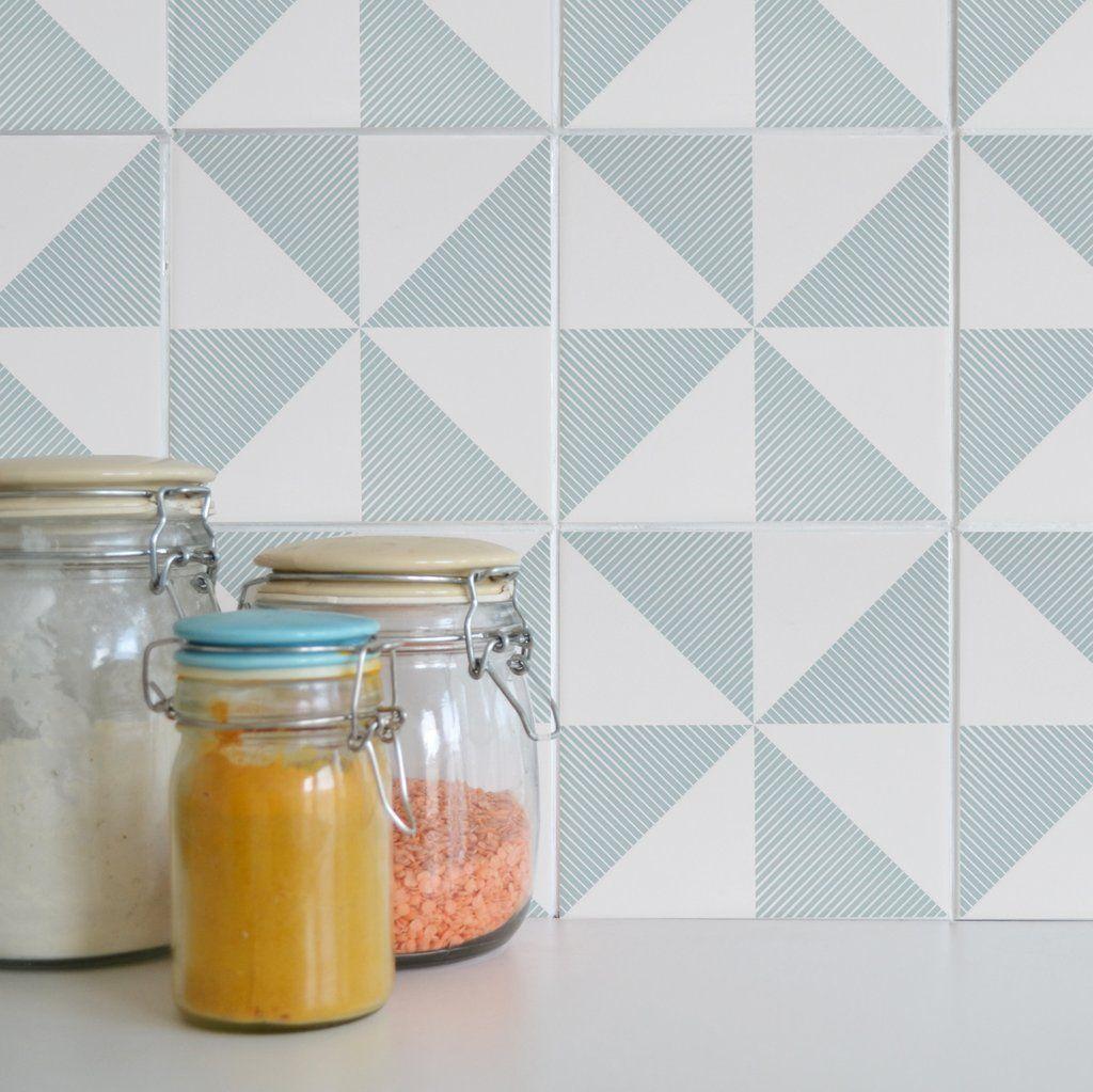 Tile Tattoos - Sandown Blue | Kitchens, Upstairs bathrooms and ...