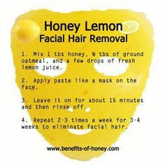 Honey Lemon Mask For For Facial Hair Removal